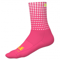CALZE DOTS SUMMER ROSA FLUO BIANCO