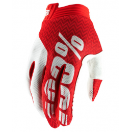 GUANTI 100% ITRACK-WHITE RED