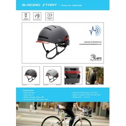 CASCO E-ROAD START CON LUCI INTEGRATE