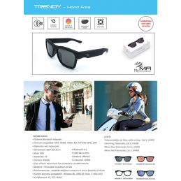 TRENDY GLASSES WITH INTEGRATED BLUETOOTH SYSTEM
