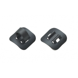 BLACK ALUMINIUM ADHESIVE CABLE GUIDE
