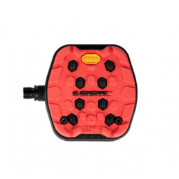 RED TRIAL GRIP PEDALS