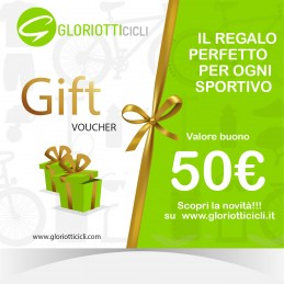 50 € - Giftcard Digitale Gloriotti Cicli