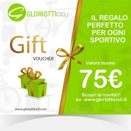75 € - Giftcard Digitale Gloriotti Cicli