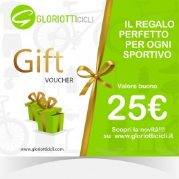 25 € - Giftcard Digitale Gloriotti Cicli