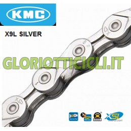 CHAIN X9L SILVER PERFORATED INNER MESH 9 VEL.