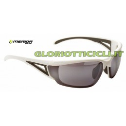 OCCHIALI EYE-SHIELD GLASSES WHITE LENS GREY