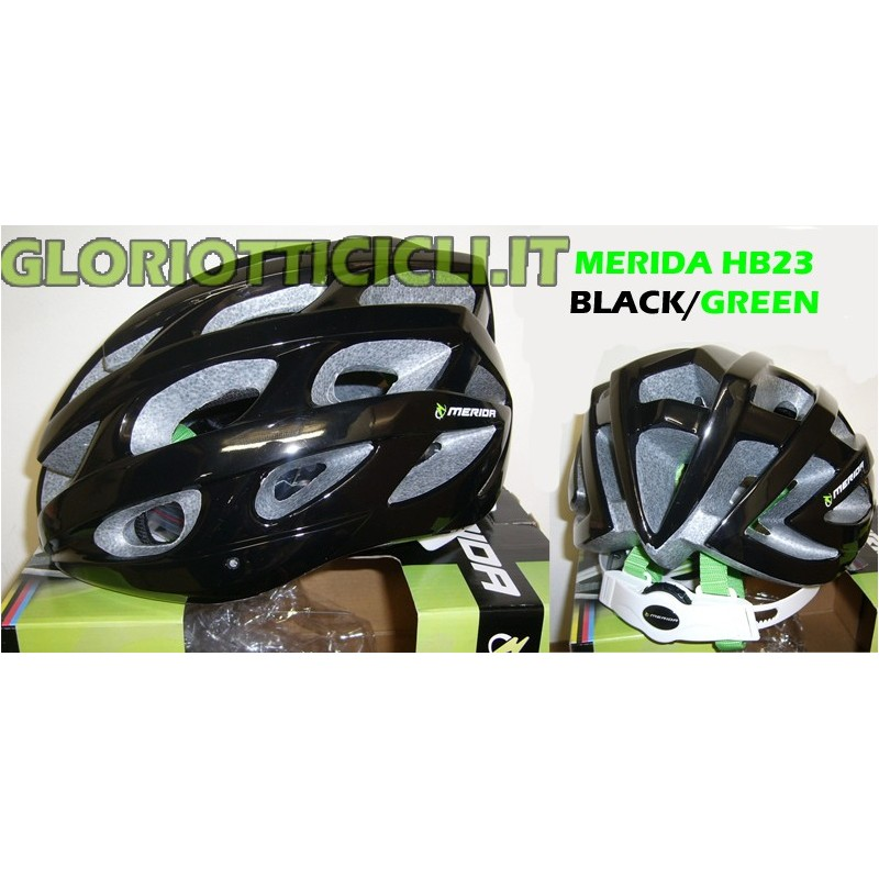 BLACK/GREEN ROAD/MTB HELMET HB23