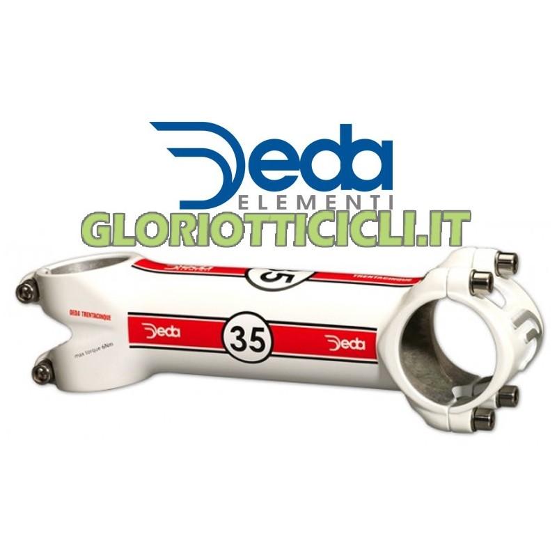 DEDA HANDLEBAR ATTACHMENT THIRTY-FIVE WHITE 90 mm (35 mm)