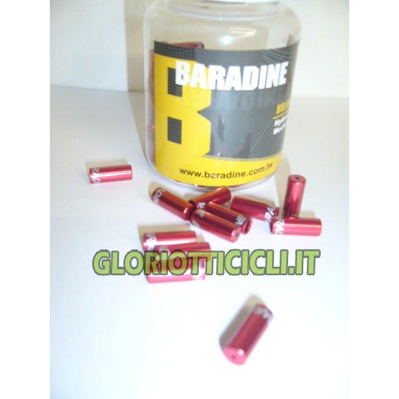 BARADINE ALUMINUM 100 PIECES TERMINAL COMPASS RED SHEATH 4MM