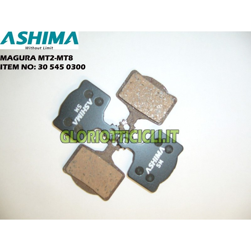 ASHIMA SET 4 PASTIGLIE FRENO SEMI-METALLICHE PER MAGURA MT2-MT8