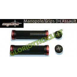 CAMPABROS BLACK KNOBS MTB DH ASSAULT WITH RED ALUMINUM BLOCK