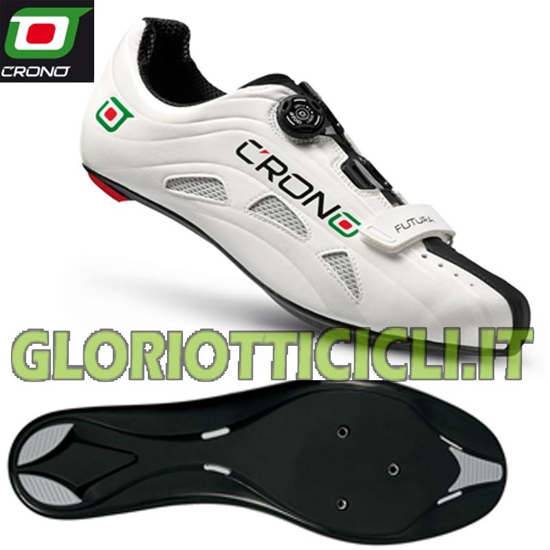 quality design e8a88 100b1 SCARPE CORSA FUTURA BIANCA SUOLA NYLON BLACK - Gloriotti Cicli - Biciclette  / Accessori / Abbigliamento