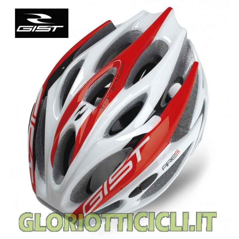 WHITE/RED ARES ROAD HELMET OR MTB
