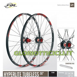 FIR RUOTE MTB HYPERLITE TUBELESS 26""