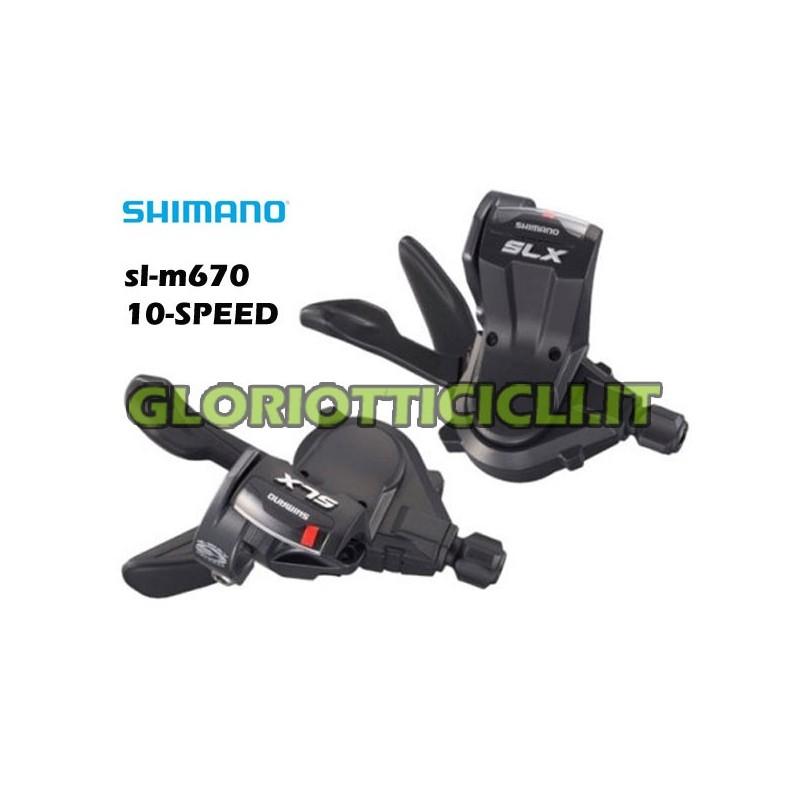 COPPIA COMANDI CAMBIO 10 VEL.SLX SL-M670-