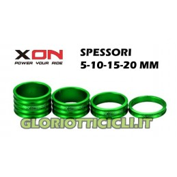 SPACERS GREEN STEERING SERIES,5-10-15-20mm