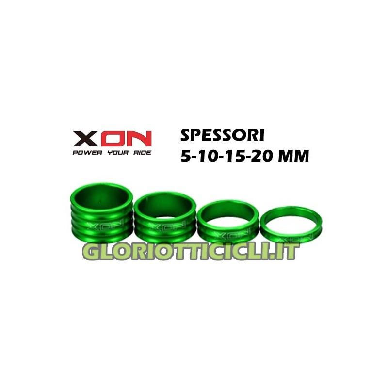 SPACERS GREEN STEERING SERIES,5-10-15-20mm