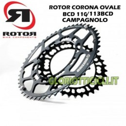 CAMPAGNOLO OVAL RUNNING CROWN 110/113 BCD*5 BLACK