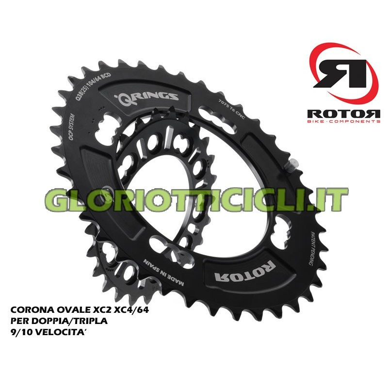 """OVAL CROWN MTB XC2 104/64 FOR DOUBLE/TRIPLE 9)10V WHEEL 29"""""""