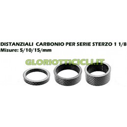 CARBON - SPACERS STEERING SERIES FROM 5-10-15-mm