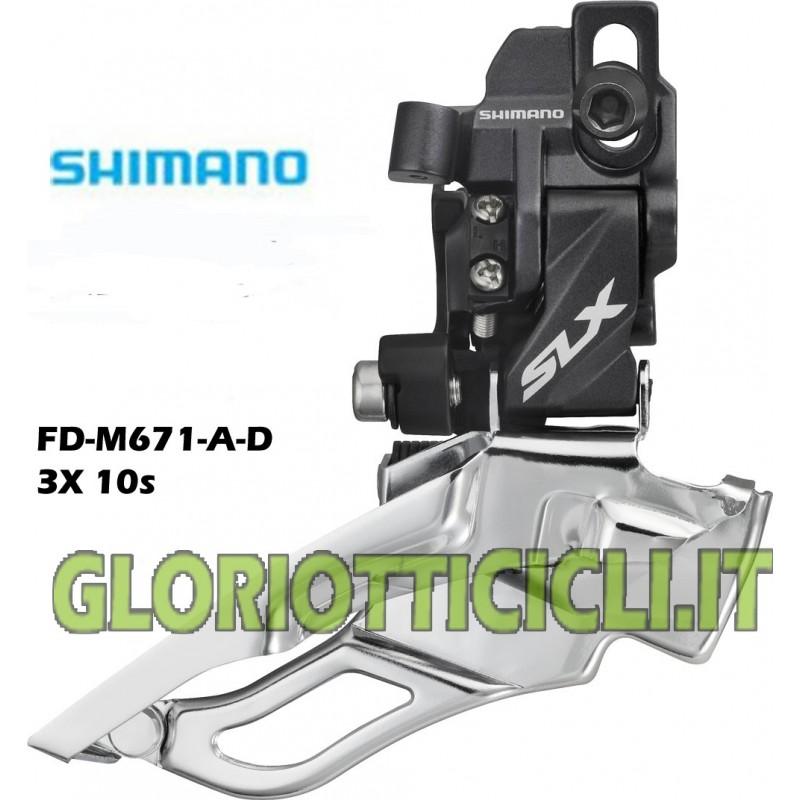 SHIMANO DERAGLIATORE SLX FD-M671 3x10 Velocità