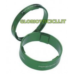 Aluminum spacers kit FOR HANDLEBAR CYCLE- 1 1/8 GREEN