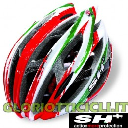 SENIOR ZEUSS RED/WHITE/GREEN MADE IN ITALY MTB ROAD HELMET