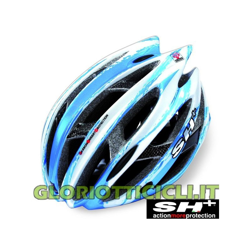 SENIOR ZEUSS BLUE/WHITE MADE IN ITALY MTB ROAD HELMET