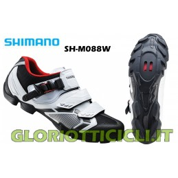 SCARPE MTB SH-M088W WHITE/BLACK-SPD