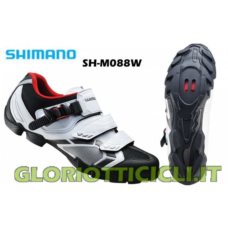 SH-M088W WHITE/BLACK-SPD MTB SHOES
