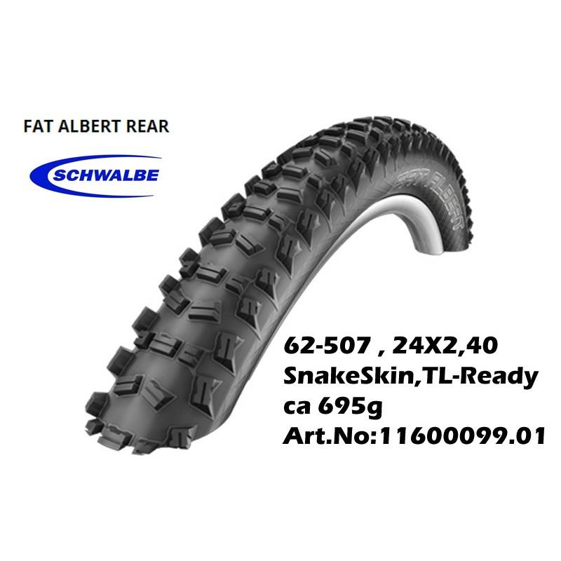 COPERTURA MTB FAT ALBERT REAR 24 x 2,40 TL-Ready