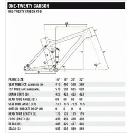 TELAIO ONE-TWENTY CARBON 2000D