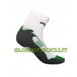 WHITE/GREEN/GREY BIKE SOCK SOCKS