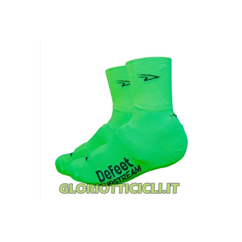 PAIR OF FLUO GREEN SLIPSTREAM SHOE COVERS PAIR