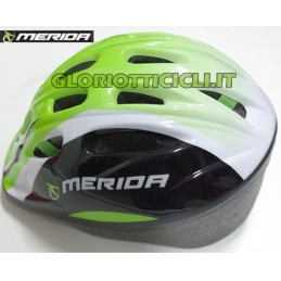 GREEN WHITE JUNIOR HELMET