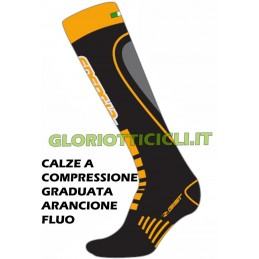 FLUO ORANGE GRADUATED COMPRESSION SOCKS