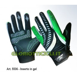 SUMMER FREERIDE GLOVES GEL BLACK-GREEN