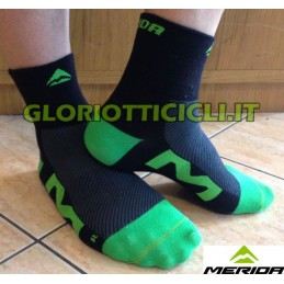 PAIR OF BLACK/GREEN SOCKS 2014