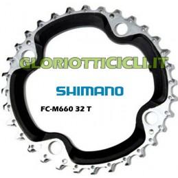 CORONA SLX 32t 9 Velocità Medio 4 Braccio Corona FC-M660
