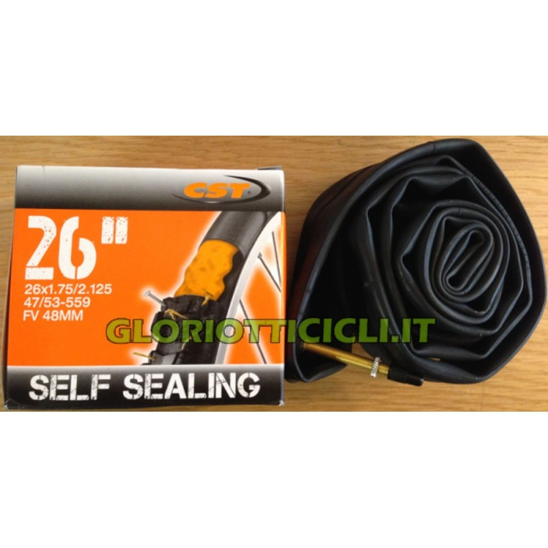 "CAMERA D'ARIA MTB SELF SEALING 26""x1.75/2.125 VALVOLA 48mm"
