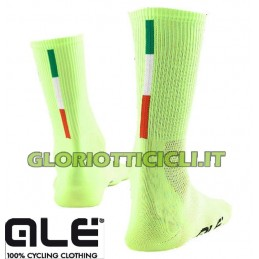 SUMMER SOCKS Q-SKIN POLS. AVERAGE 2014 YELLOW FLUO