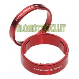 kit Distanziali in alluminio PER MANUBRIO CICLO- 1 1/8 rosso