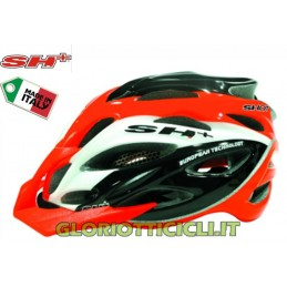 CASCO MTB SHOT XC ORANGE-WHITE-BLACK-S/L (55-60)