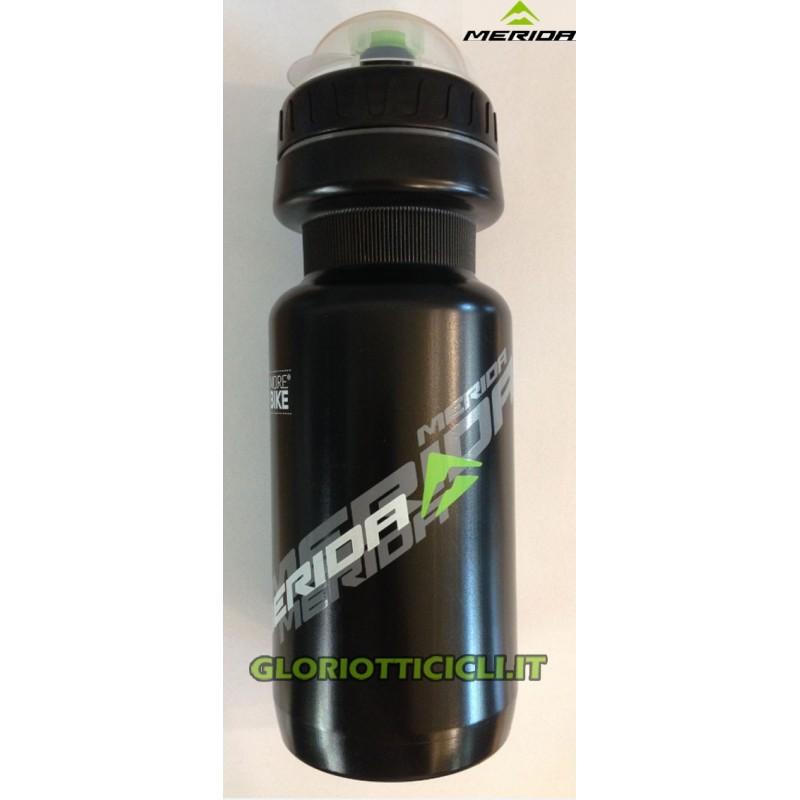 WATER BOTTLE 500CC,BLACK, SILVER/WHITE LOGO,W/CAP