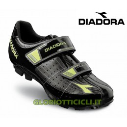 X-PHANTOM BLACK/GREEN FLUO MTB SHOES