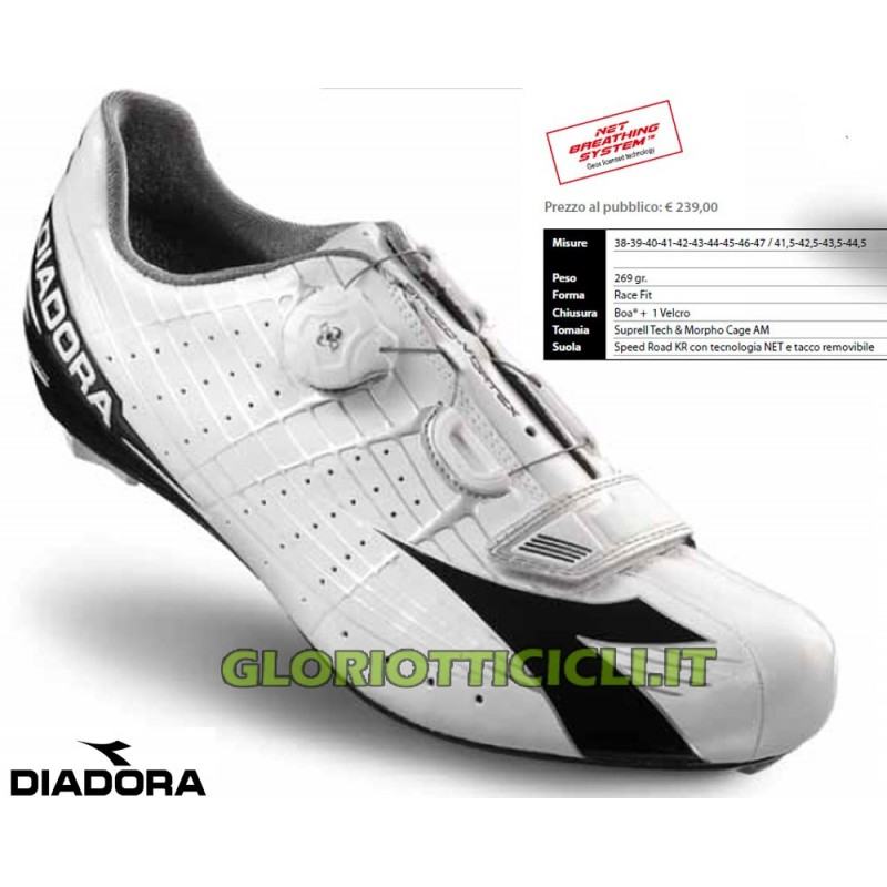 SCARPE CORSA SPEED VORTEX WHITE-BLACK 2015