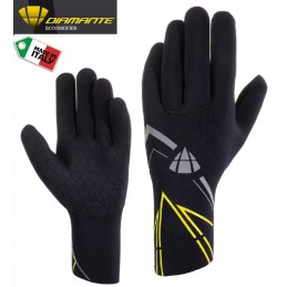 NEOPRENE BLACK YELLOW FLUO WINTER GLOVES