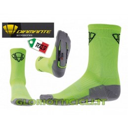 FLUORESCENT YELLOW BIOCERAMIC SOCKS HIGH EDGE