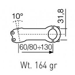 HANDLEBAR ATTACHMENT ALCOR 80AL 6061